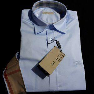 Burberry Brit LARGE Pale Blue Men Nova Check Shirt